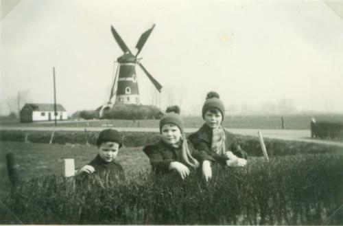 archief_maart 1939_René, Frans en Maarten_kinderen van burgemeester van Rijckevorsel die op Broekdijk 1 woonde.